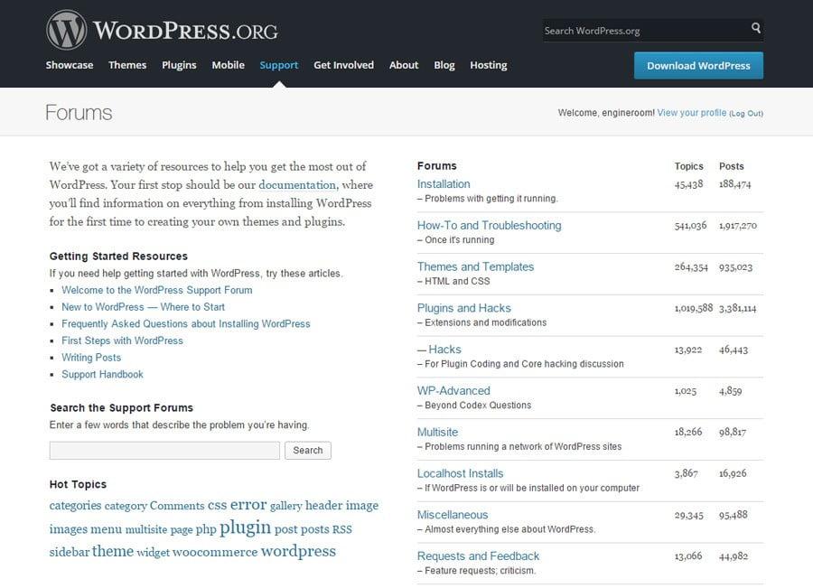 engineroom-wordpress-support